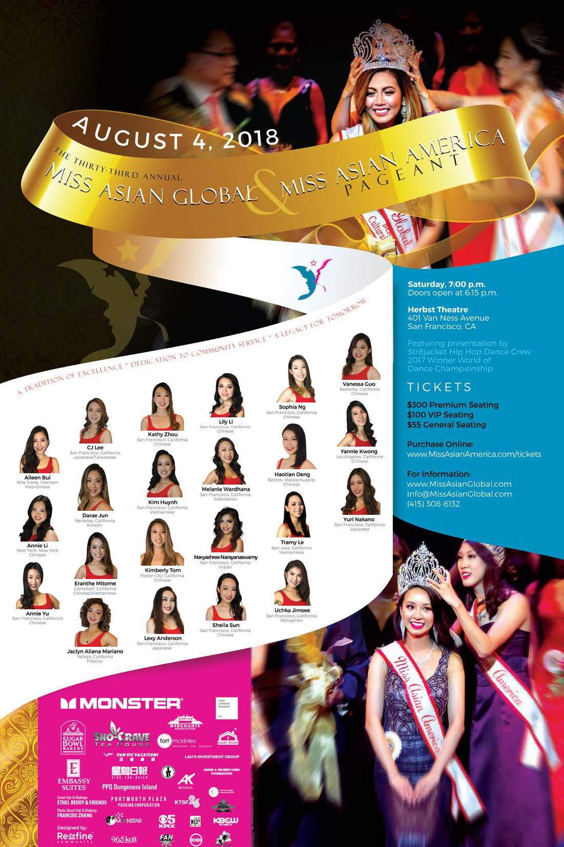 2018 Miss Asian Global Poster