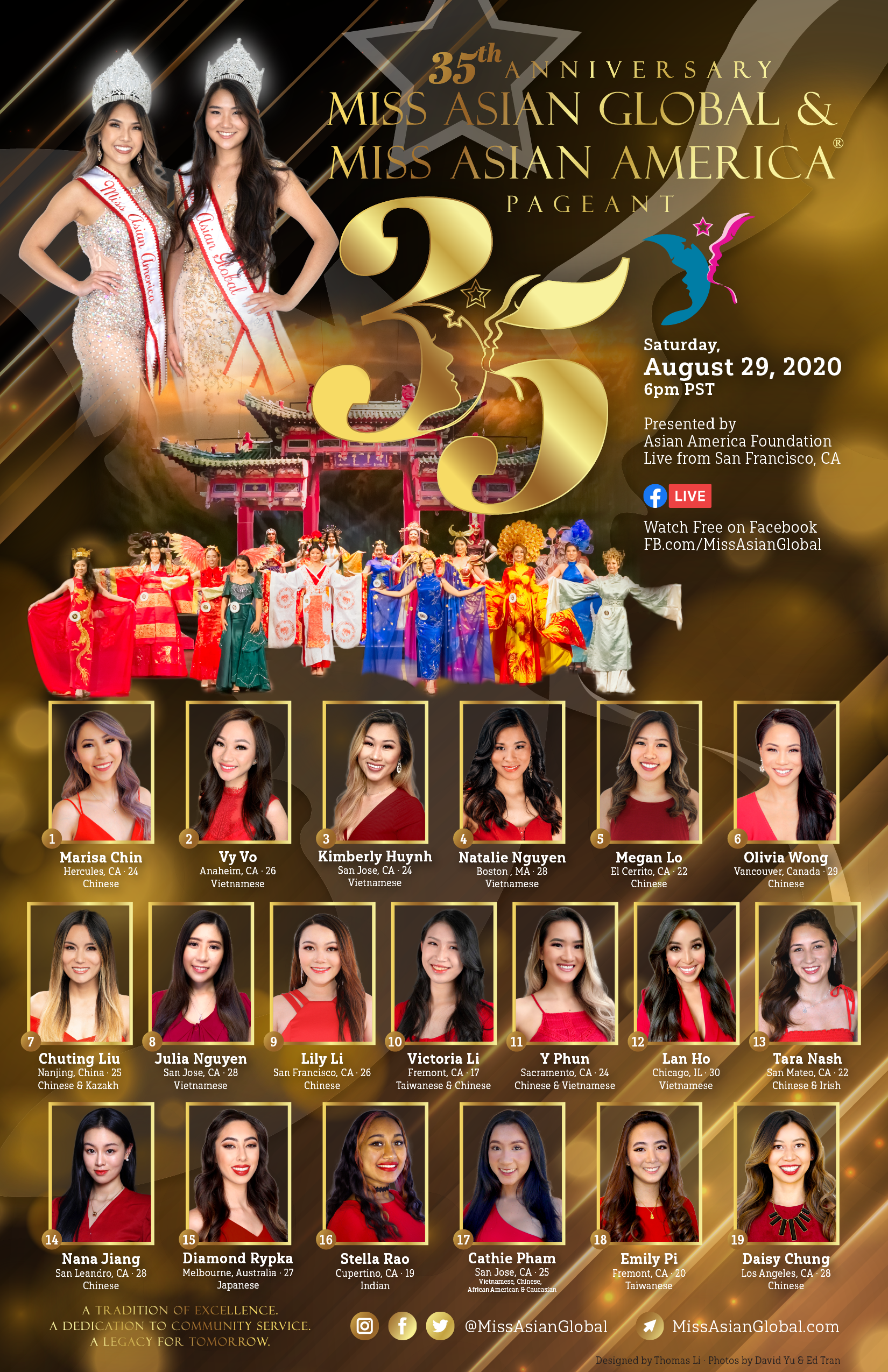2020 Miss Asian Global Pageant - 35th Anniversary Celebration