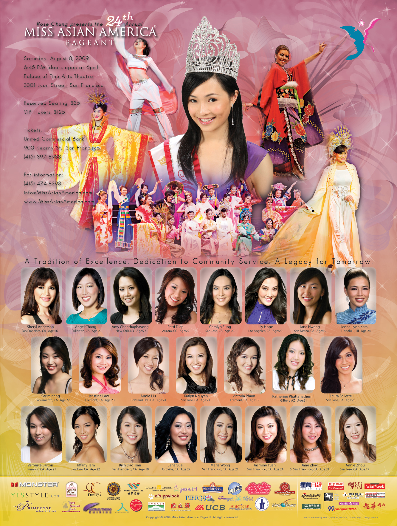 2009 Miss Asian America Pageant Poster